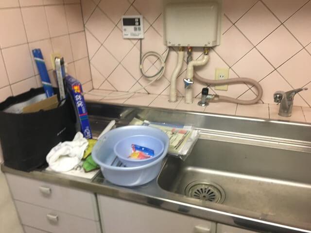 文京ハイツ キッチン洗浄前の様子