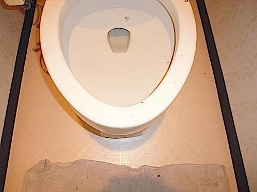 おゆみ野パークハウス1番館、トイレ、入居前清掃の様子
