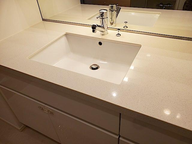 洗面台の清掃