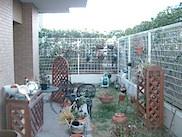 庭付きマンションランドスケープ前の様子