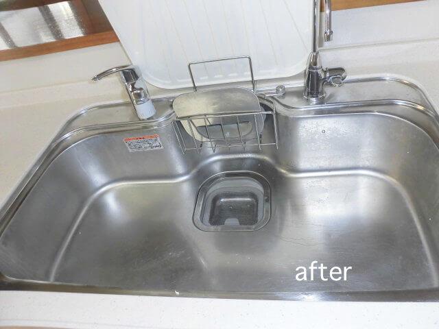 千葉県流山市東初石 戸建て住宅 キッチン洗浄後の様子