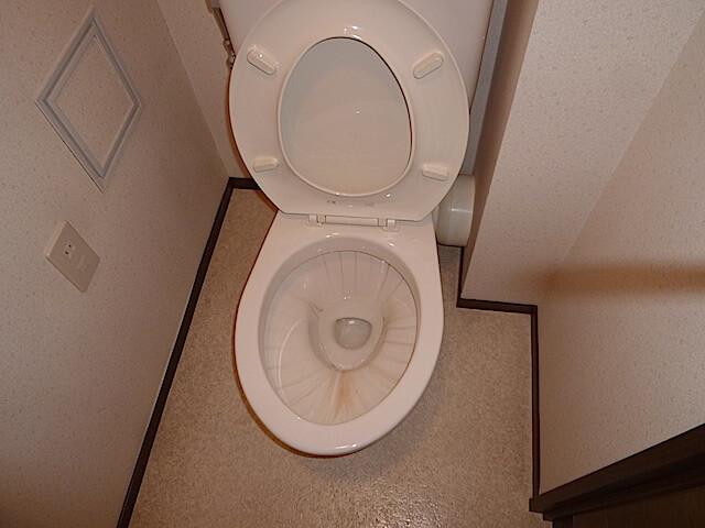 千葉県 佐倉市 ザ・ウィンベル臼井王子台 入居前清掃 トイレ洗浄前の様子