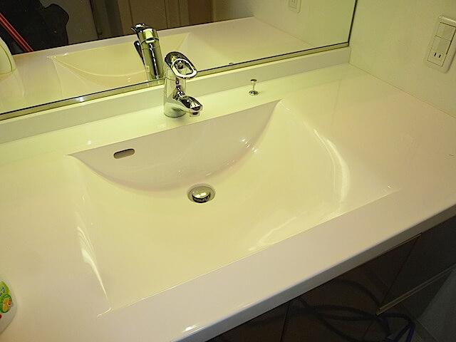 アンビシャスプラザ 千葉中央 洗面台洗浄後の様子