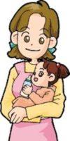子供をだっこするお母さんも安心ハウスクリーニング